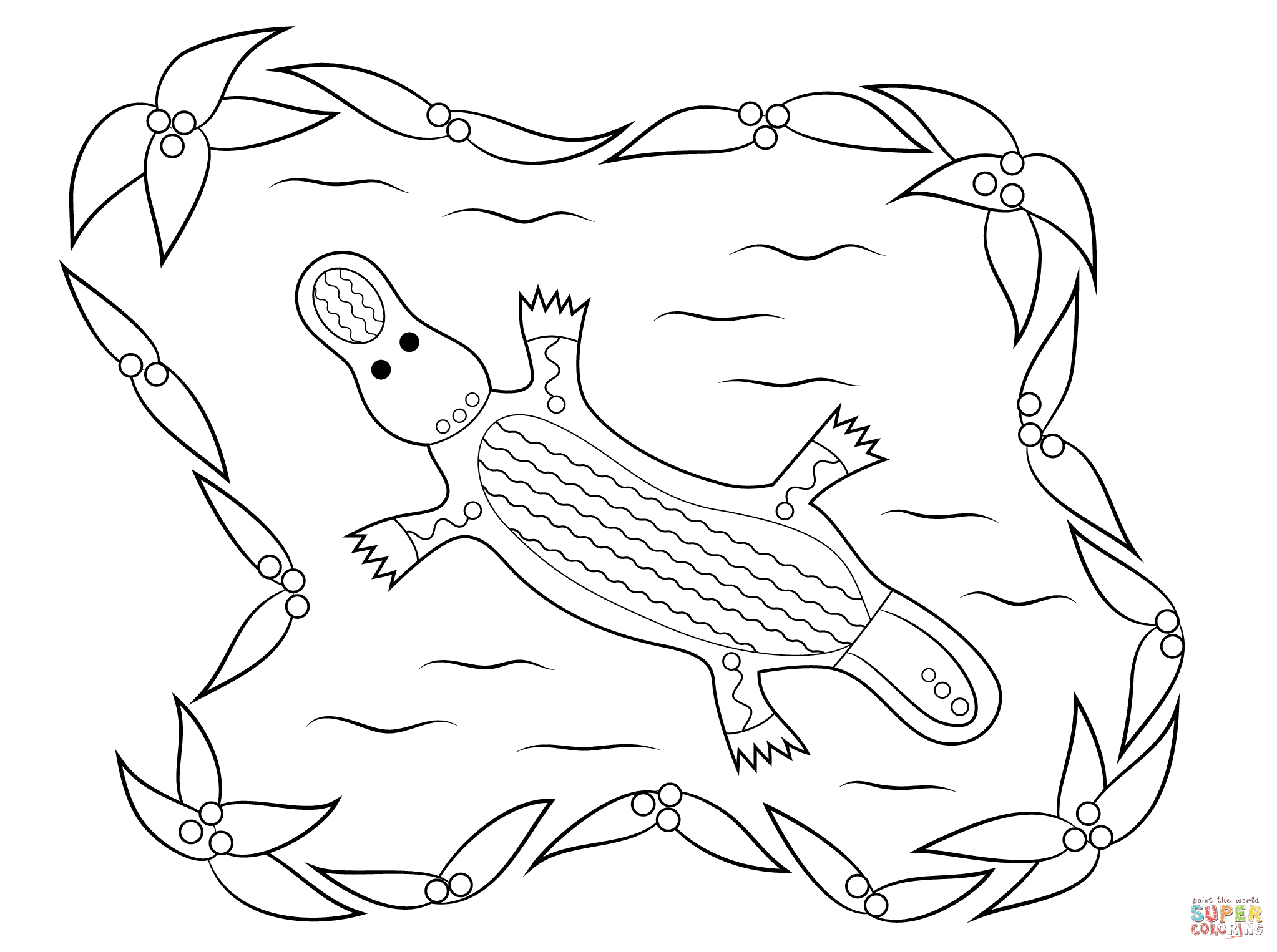 aboriginal dot painting colouring pages 39kangaroo colouring single pdf page colouring page39 by painting dot aboriginal colouring pages