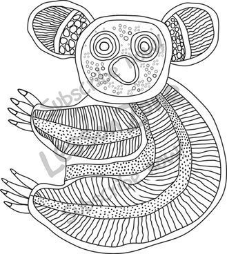 aboriginal dot painting colouring pages free craft instructions and printable templates for dot aboriginal painting colouring pages dot