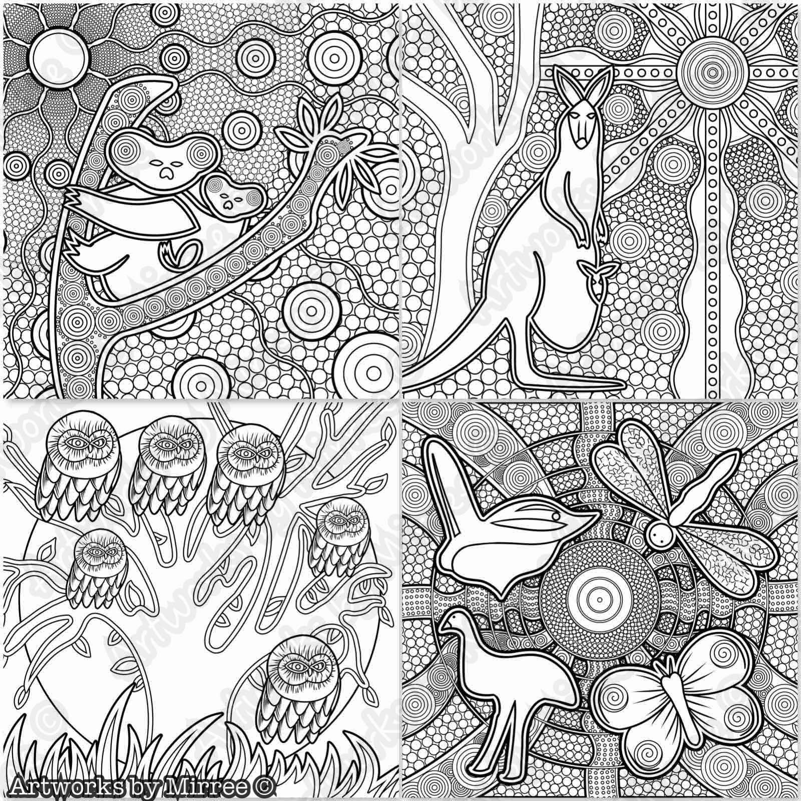 aboriginal dot painting colouring pages kangaroo aboriginal dot art coloring page aboriginal dot aboriginal painting colouring pages dot