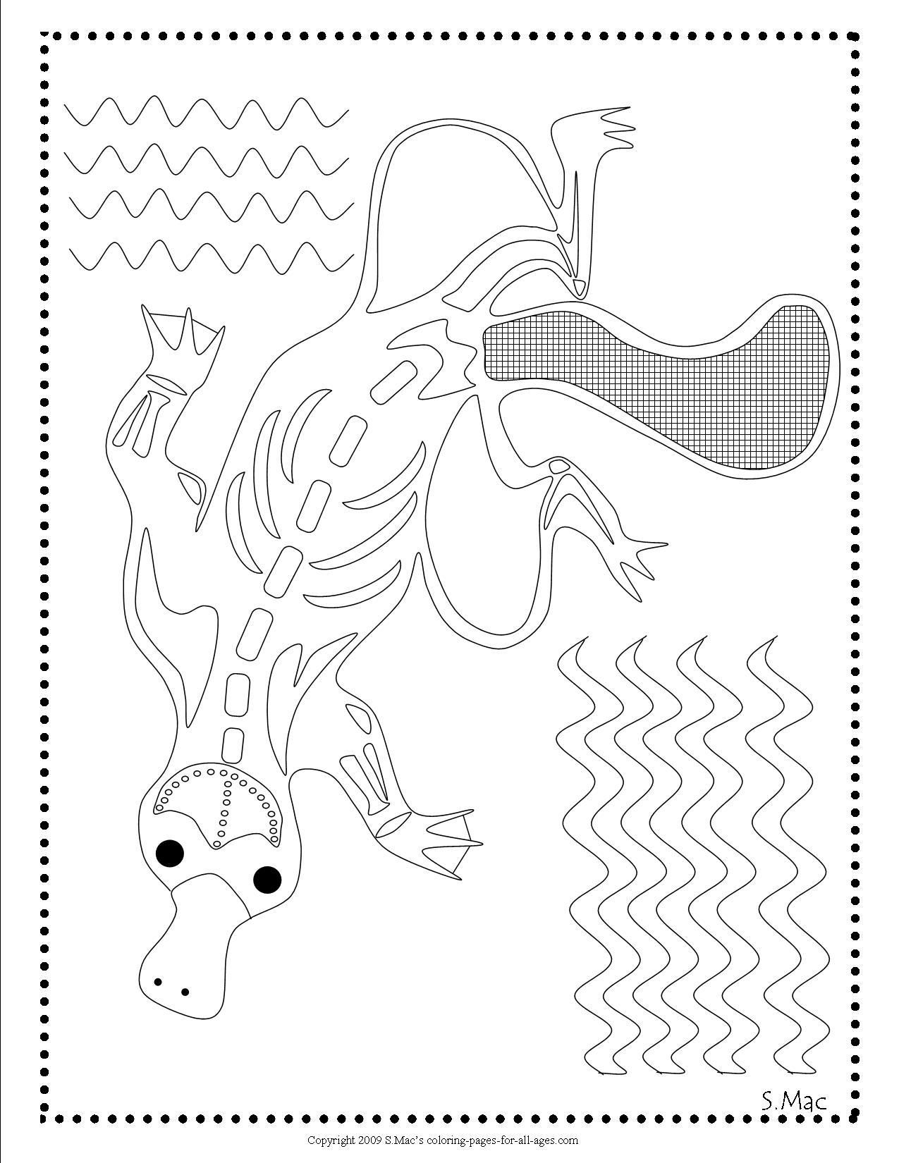 aboriginal dot painting colouring pages smac39s x ray art dingo coloring page xray art aboriginal dot painting pages colouring