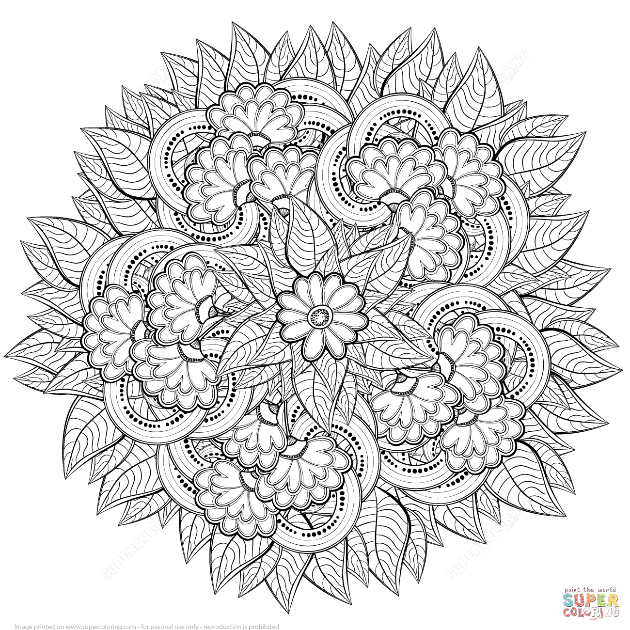 abstract colouring in abstract flowers zentangle coloring page free printable colouring in abstract