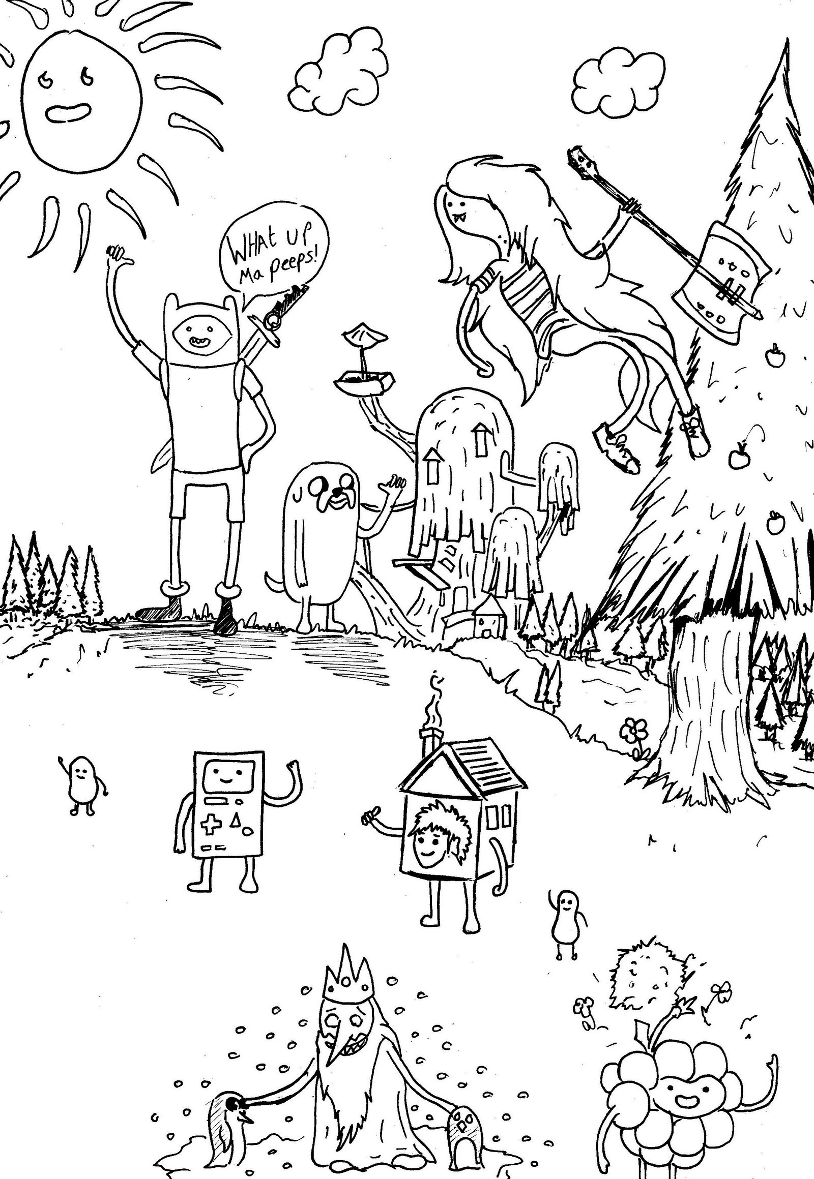 adventure time coloring adventure time doodle cartoon network coloring page coloring time adventure