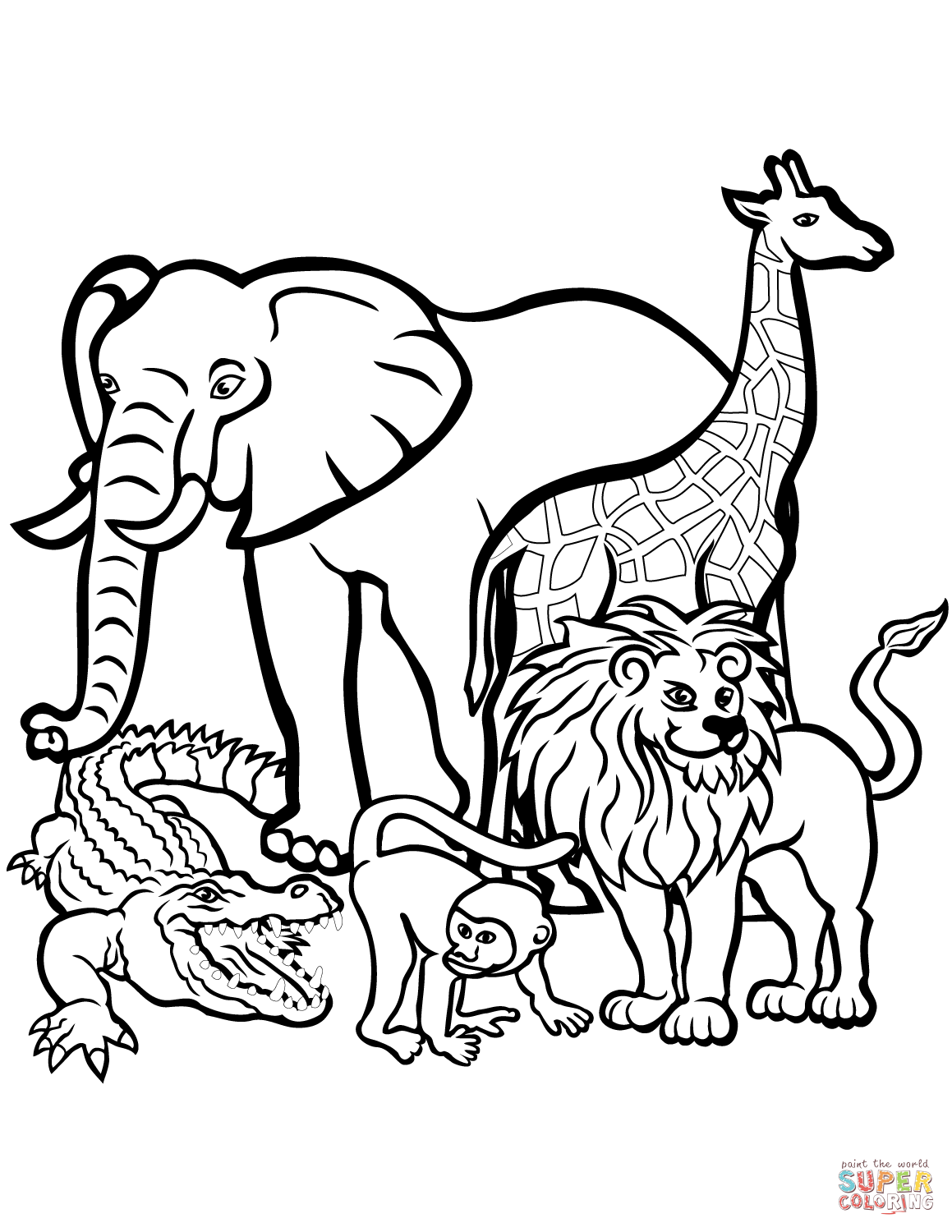 animals drawings to color african animals coloring page free printable coloring pages animals drawings to color