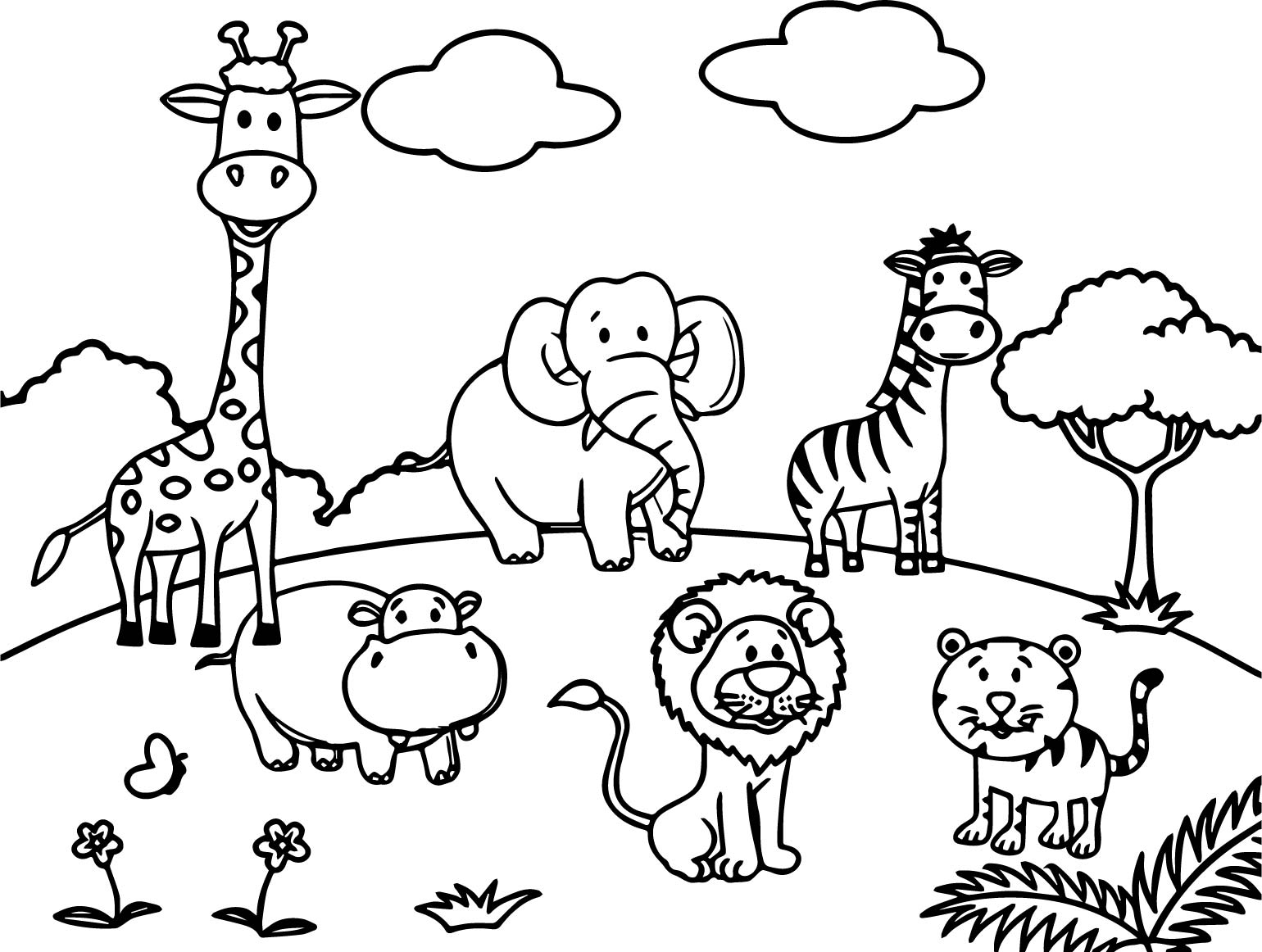 animals drawings to color cartoon animals all coloring page wecoloringpagecom color drawings to animals