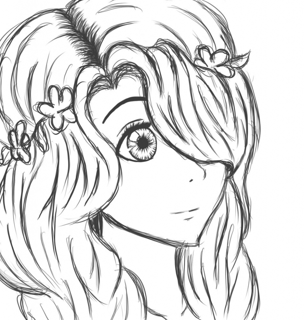 anime girl easy to draw anime girl drawing easy at paintingvalleycom explore to anime draw girl easy