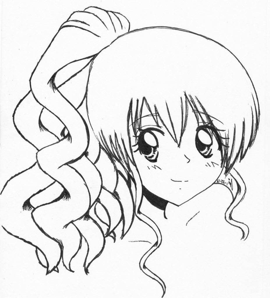 anime girl easy to draw easy drawing guides on twitter quotlearn how to draw a great to anime draw easy girl