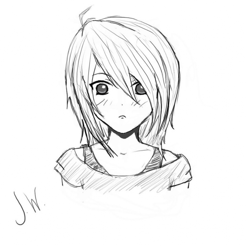 anime girl easy to draw girl art drawing at getdrawings free download draw to easy girl anime
