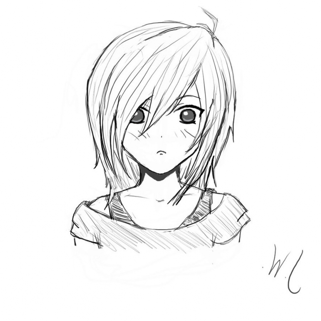 anime girl easy to draw super easy anime girl pencil drawing paintingtube easy anime girl to draw