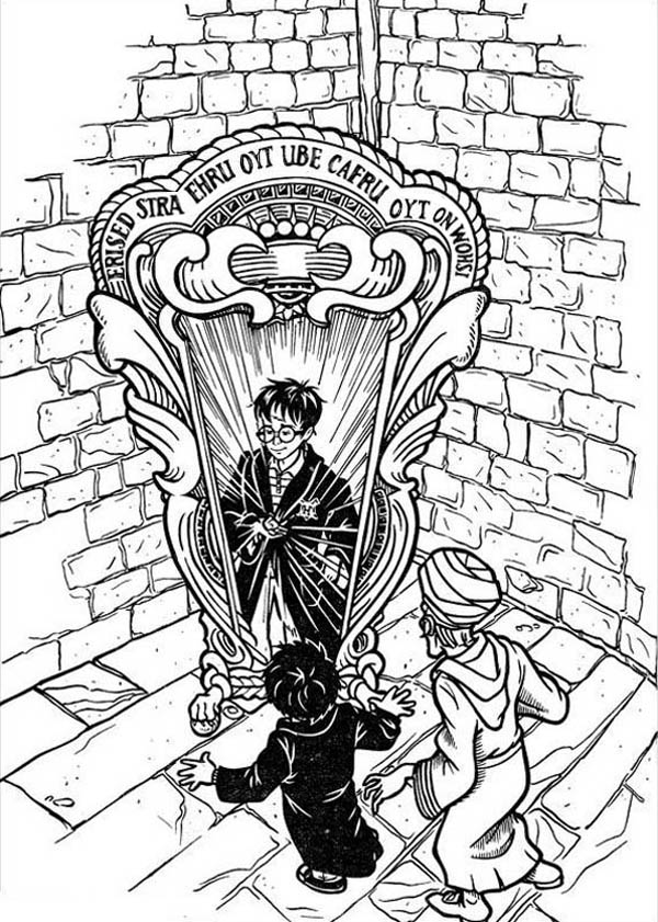 anime harry potter coloring pages harry potter and mirror of erised coloring page netart potter anime coloring pages harry