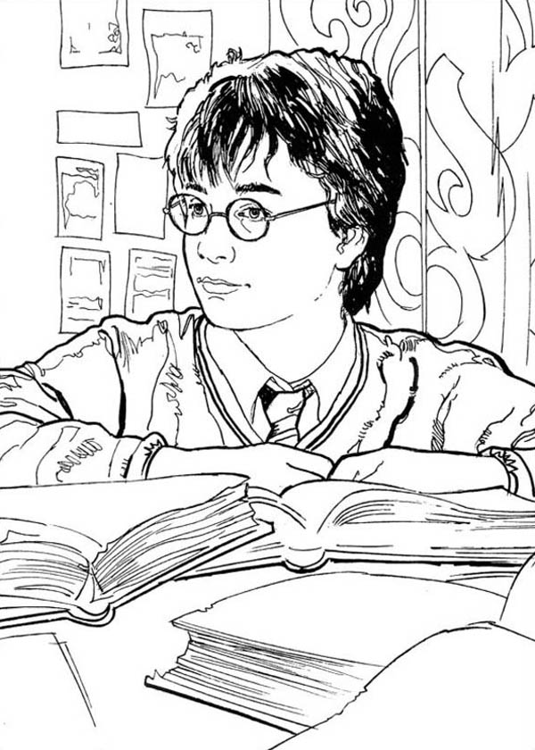 anime harry potter coloring pages harry potter in library coloring page netart di 2020 pages harry potter anime coloring