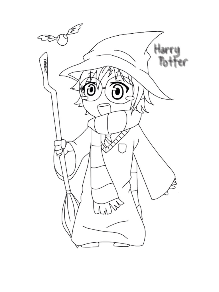 anime harry potter coloring pages harry potter kawaii colouring sheet by junicole on deviantart coloring pages potter harry anime