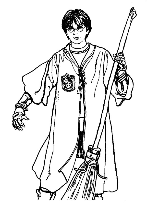 anime harry potter coloring pages quidditch player harry potter with firebolt coloring page coloring harry potter anime pages