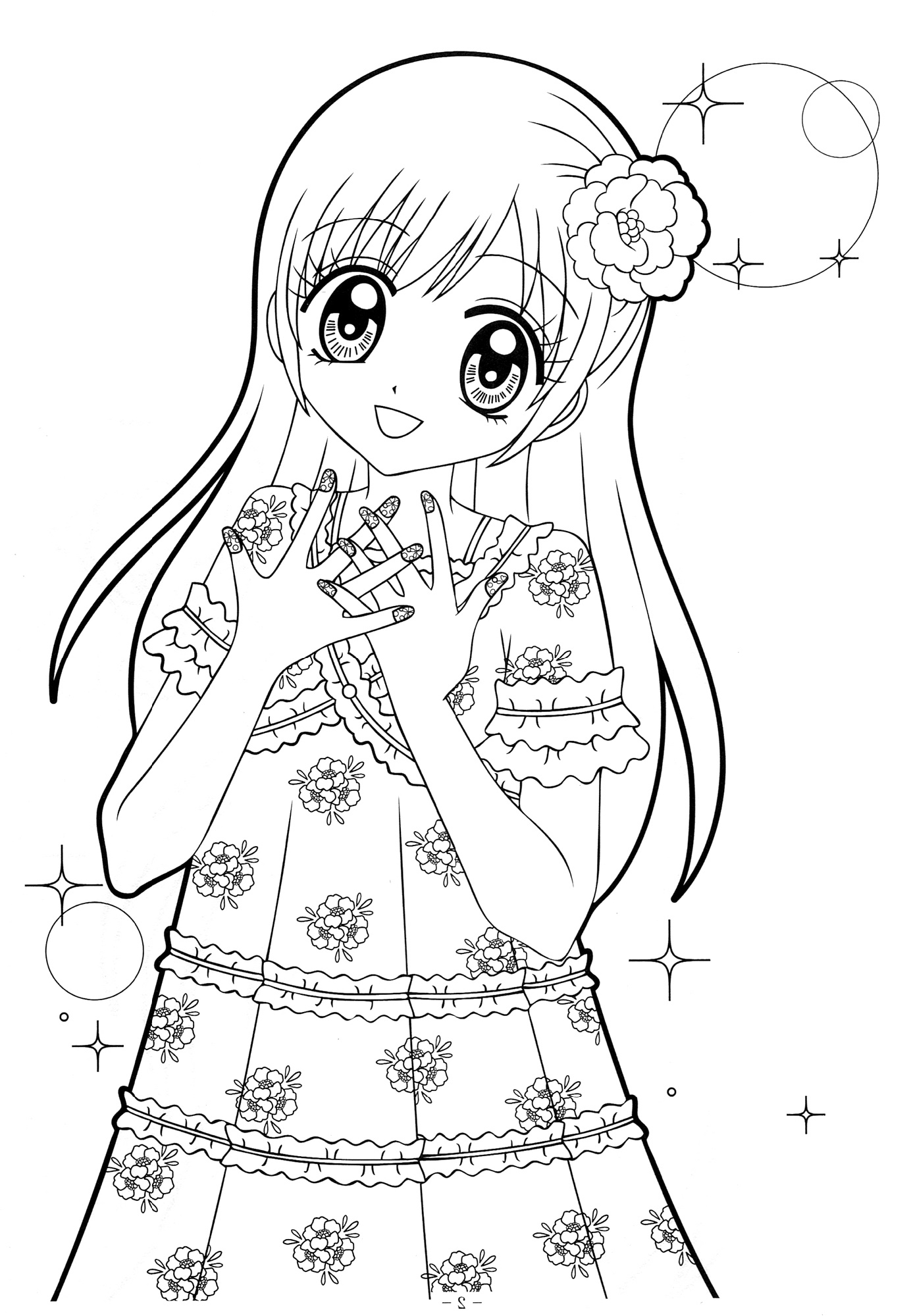 anime little girl coloring pages adorable chibi anime coloring page coloring sky little pages girl anime coloring