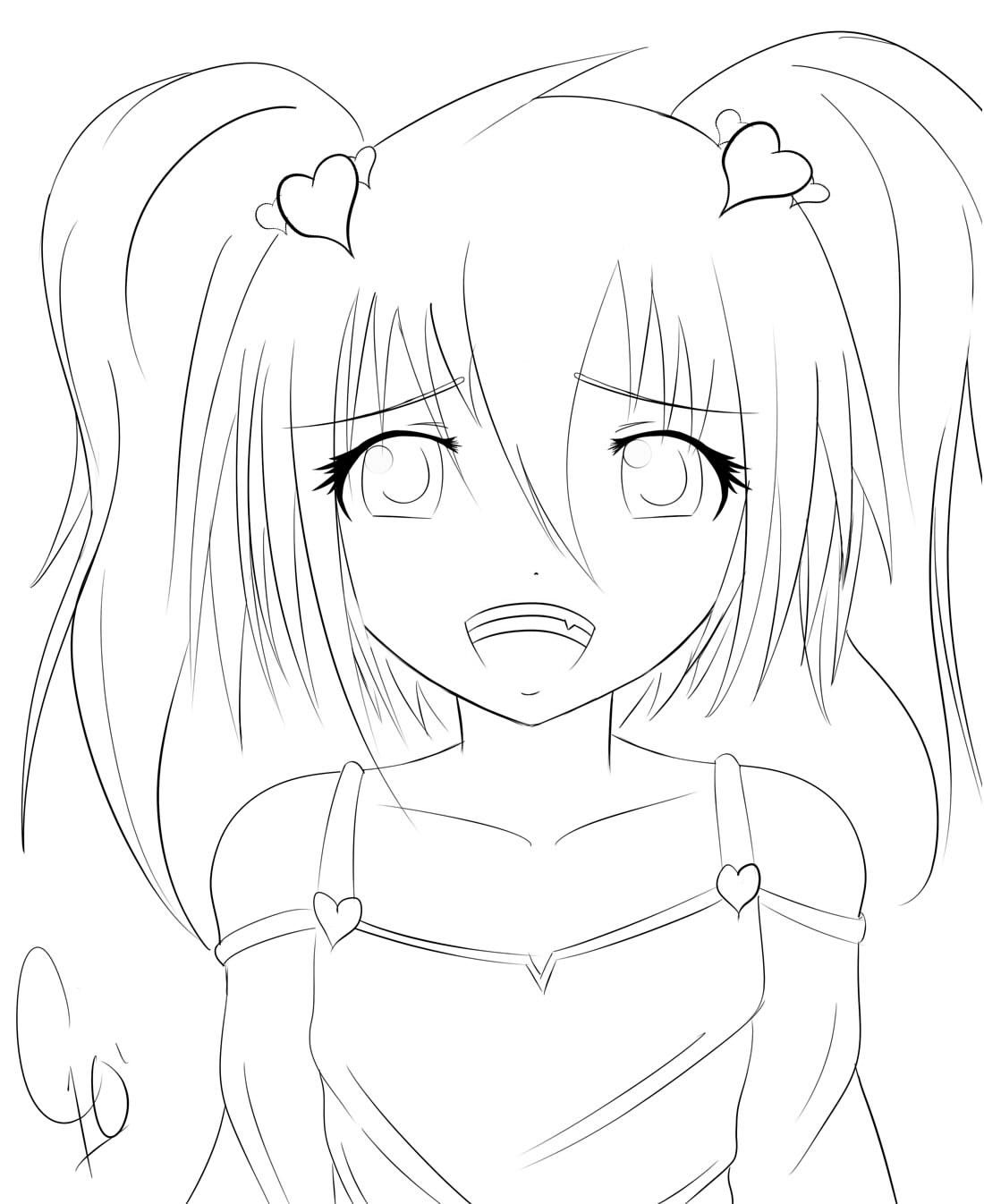 anime little girl coloring pages anime school girl coloring pages printable coloring little girl anime pages