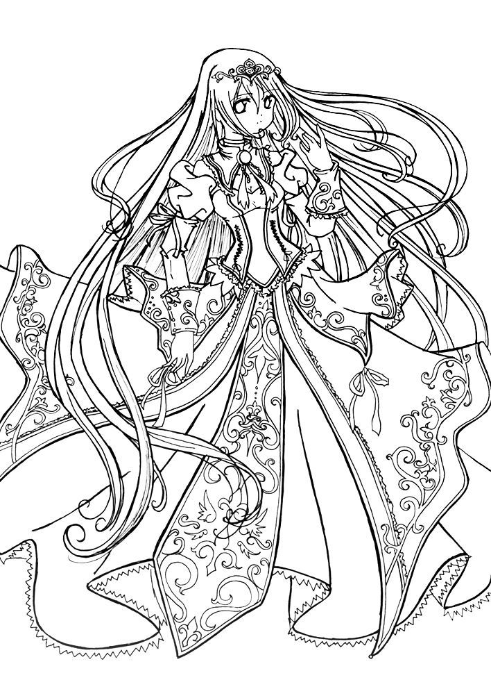 anime little girl coloring pages chibi colouring pages imagui little anime pages coloring girl