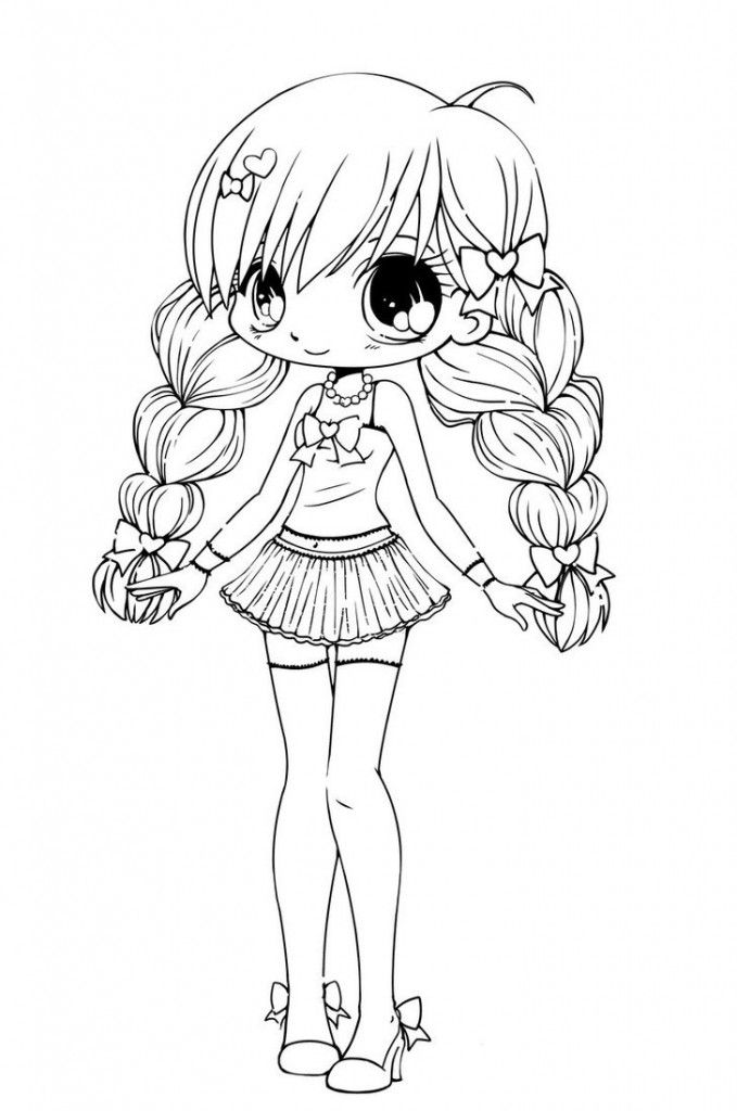 anime little girl coloring pages chibis free chibi coloring pages yampuff39s stuff little coloring pages girl anime