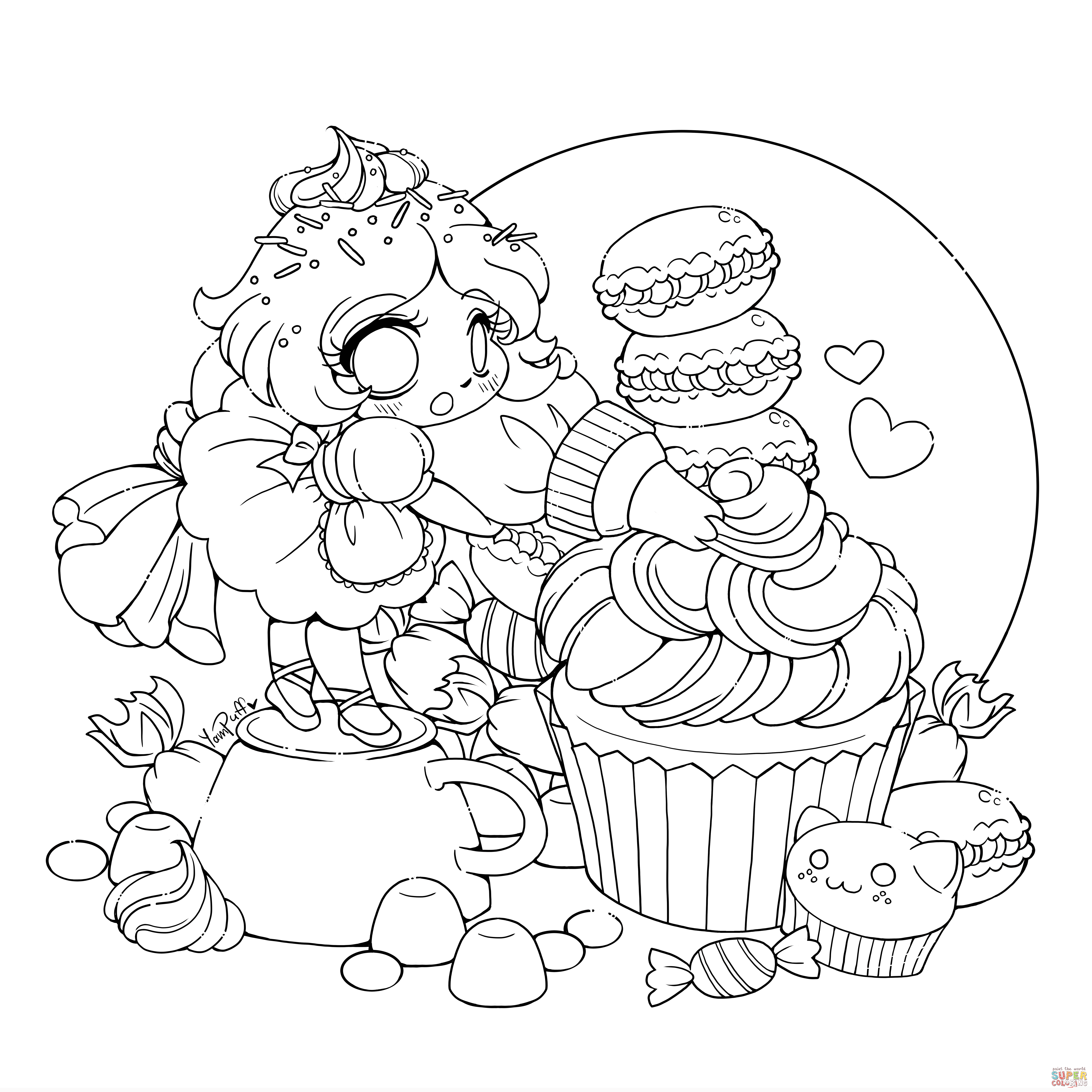 anime little girl coloring pages coloring pages for girls pdf at getcoloringscom free coloring pages little anime girl