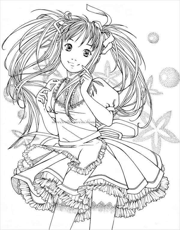 anime little girl coloring pages cute girls coloring pages coloring home girl anime coloring pages little