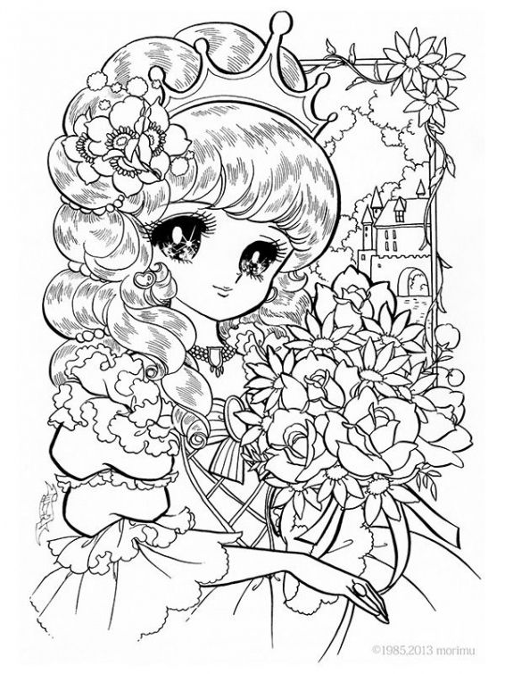 anime little girl coloring pages manga girl coloring pages hellokidscom girl little pages anime coloring
