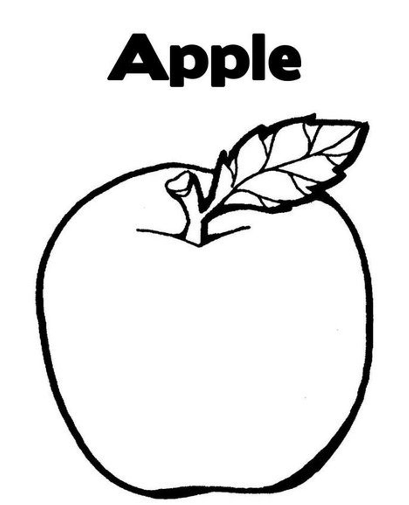 apple to color apple coloring pages to apple color