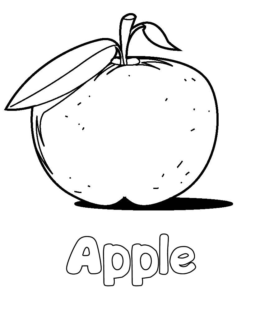apple to color free printable apple coloring pages for kids color to apple 1 1