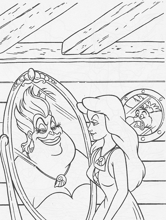 ariel and ursula coloring pages ariel ursula coloring pages workberdubeat coloring pages ursula coloring and ariel