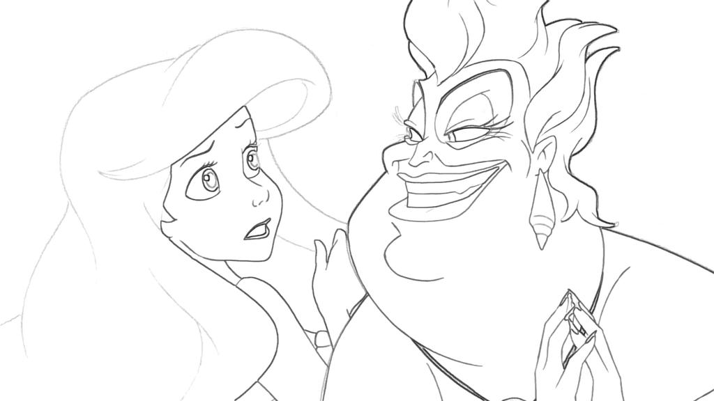 ariel and ursula coloring pages ursula ariel coloring page by richard67915 on deviantart and ariel coloring ursula pages