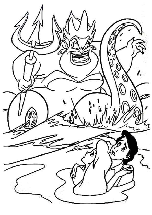 ariel and ursula coloring pages ursula little mermaid coloring pages coloring home pages coloring and ariel ursula