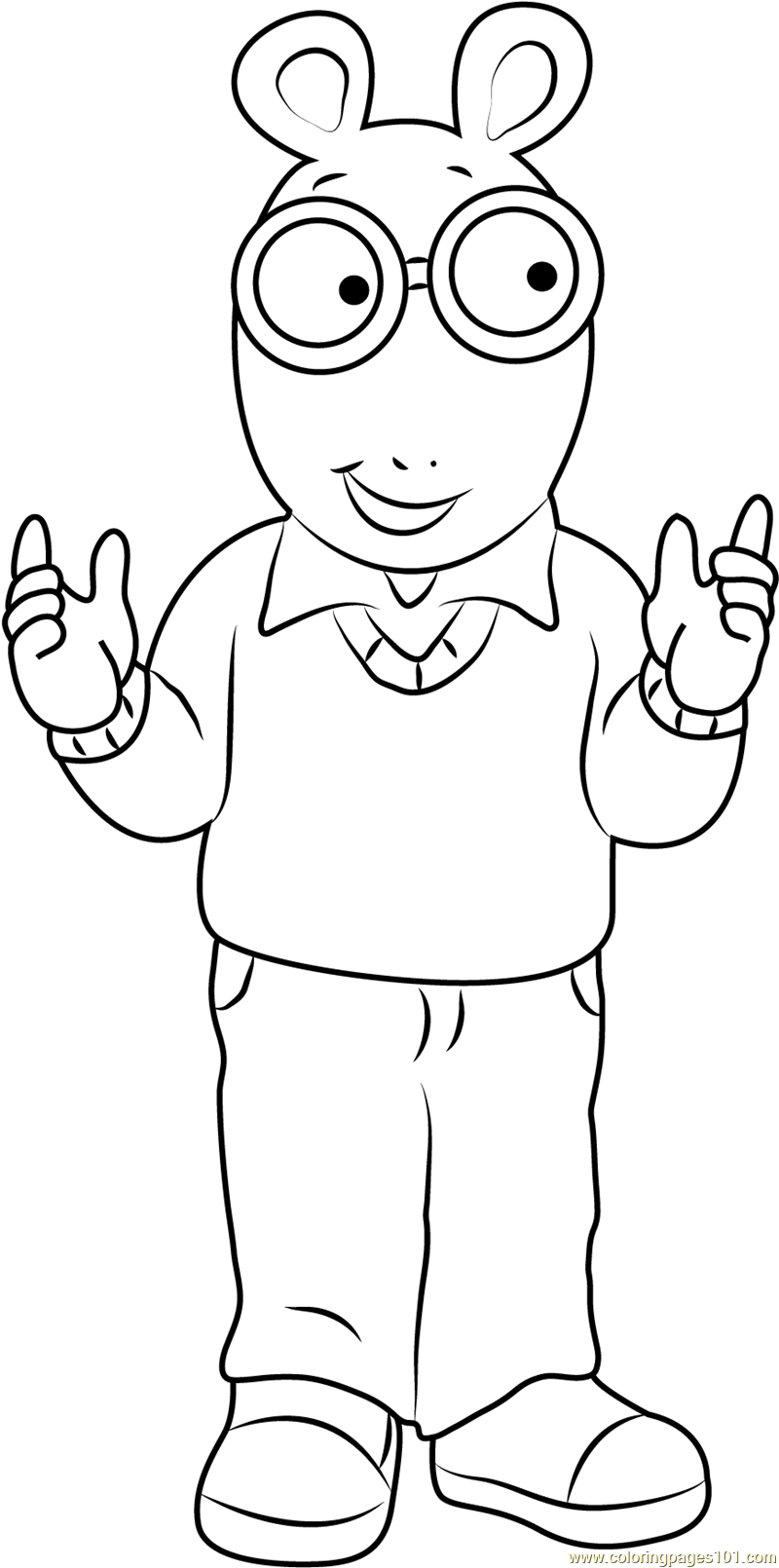 arthur coloring pages free arthur coloring pages inerletboo pages coloring arthur
