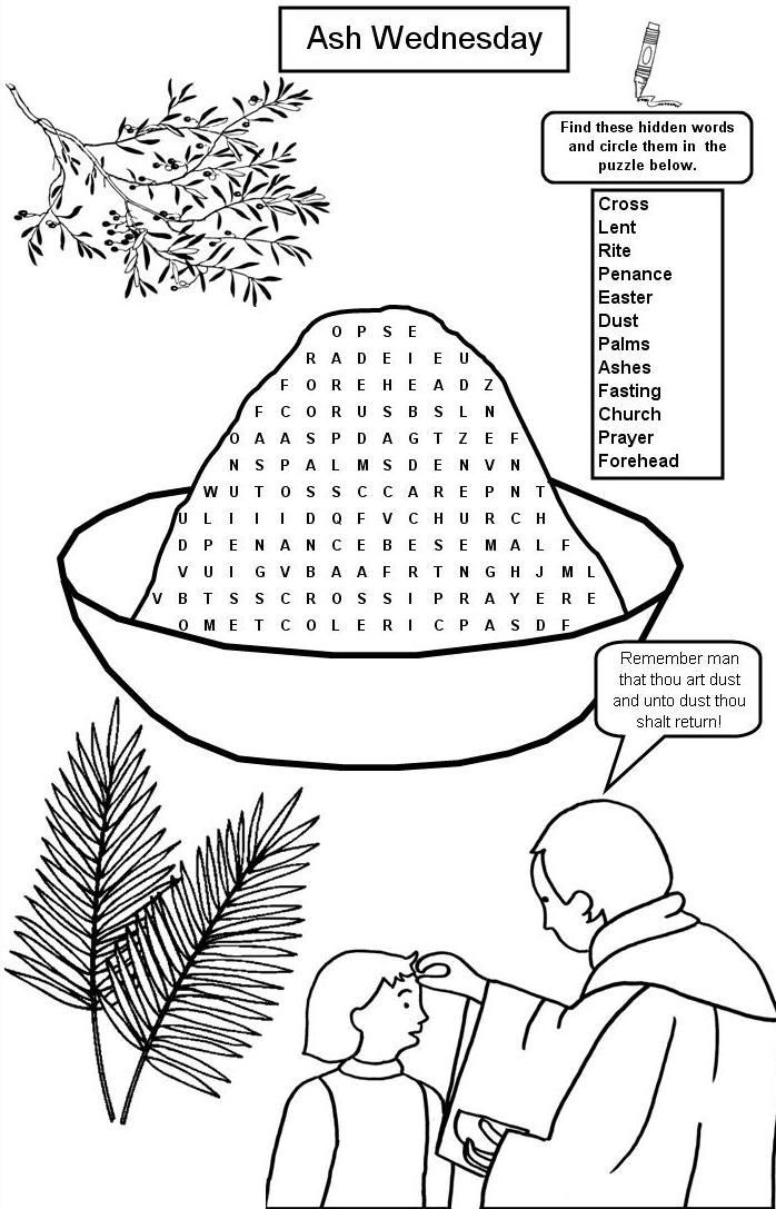 ash wednesday coloring pages ash wednesday coloring page coloring home ash wednesday pages coloring