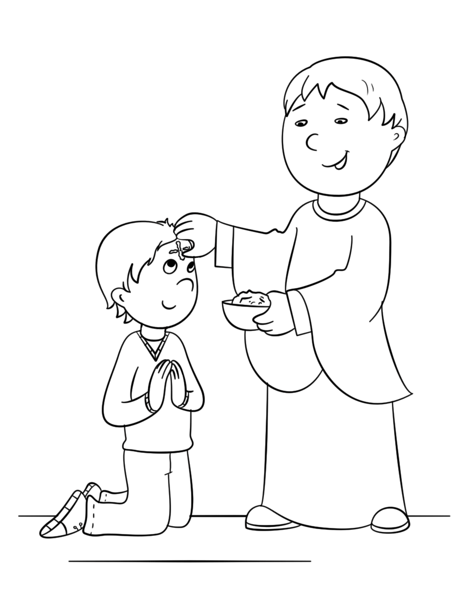 ash wednesday coloring pages ash wednesday coloring page coloring home coloring ash pages wednesday