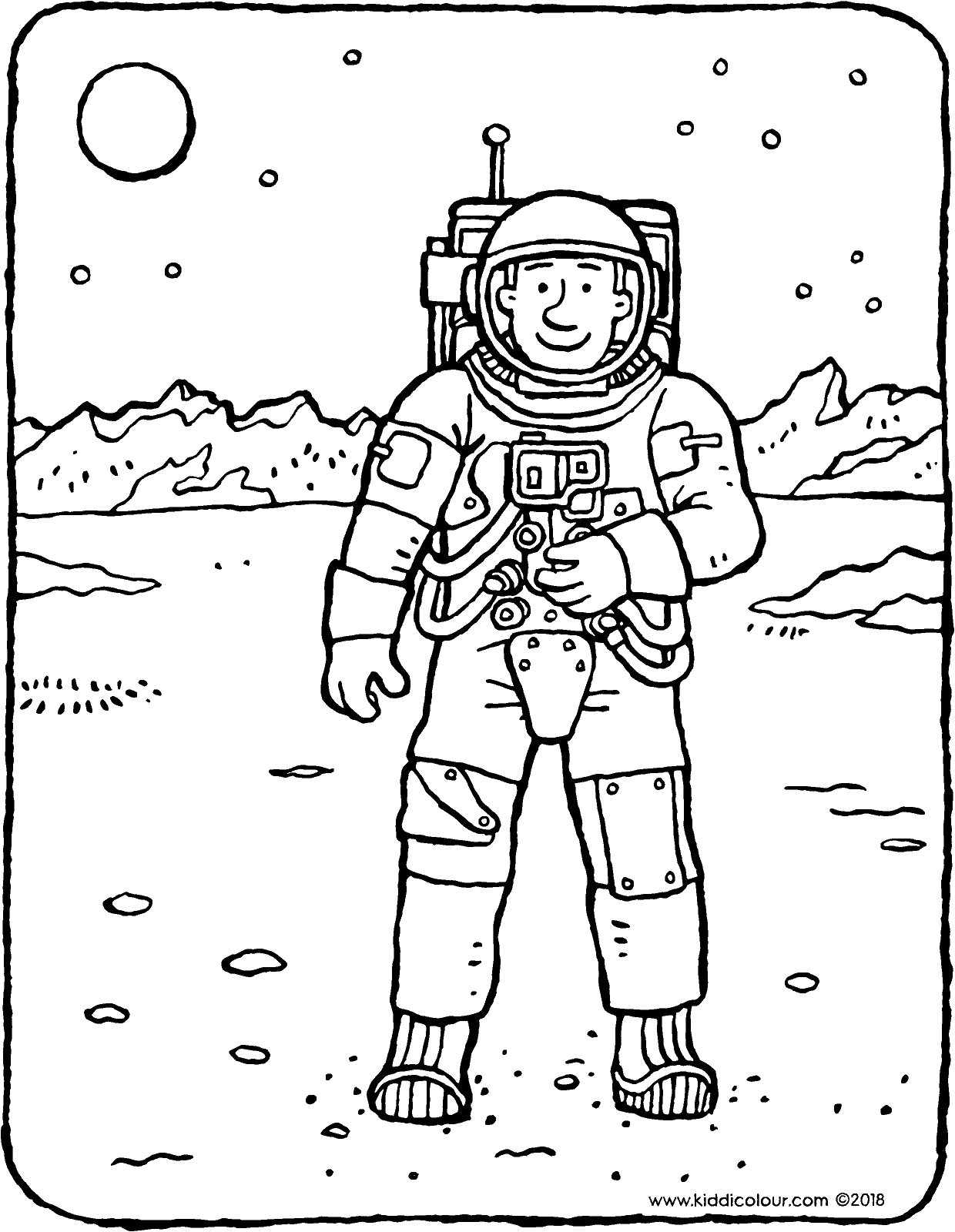 astronaut body coloring page astronaut kiddicolour astronaut page coloring body