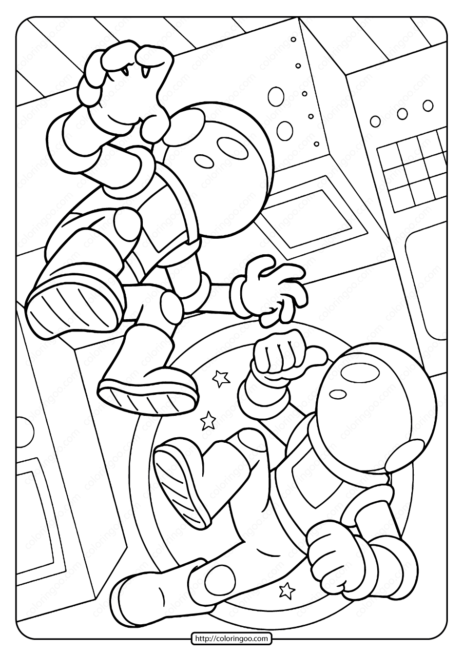 astronaut body coloring page free printable space astronauts pdf coloring page astronaut body coloring page