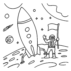astronaut body coloring page space coloring pages for preschoolers at getdrawings astronaut coloring body page