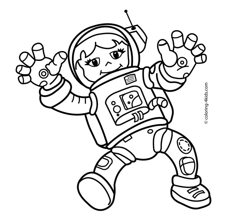 astronaut body coloring page spaceman girl in the space coloring pages for kids body page coloring astronaut