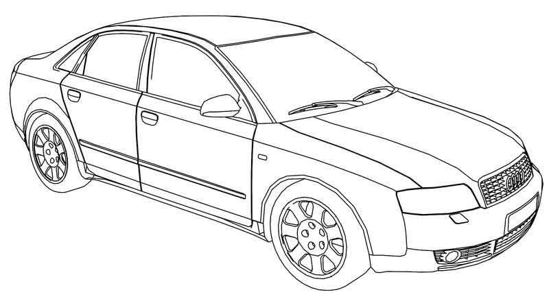 audi coloring pages audi a4 side coloring page audi pages coloring