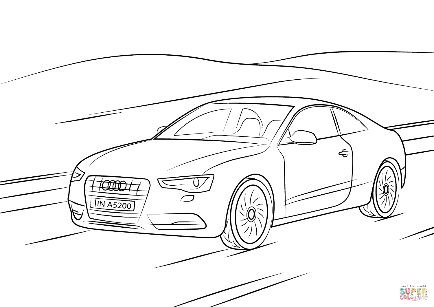 audi coloring pages audi a5 coloring page free printable coloring pages pages audi coloring