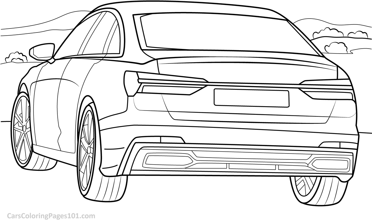 audi coloring pages audi a6 2019 rear view coloring page free 2019 audi a6 pages audi coloring