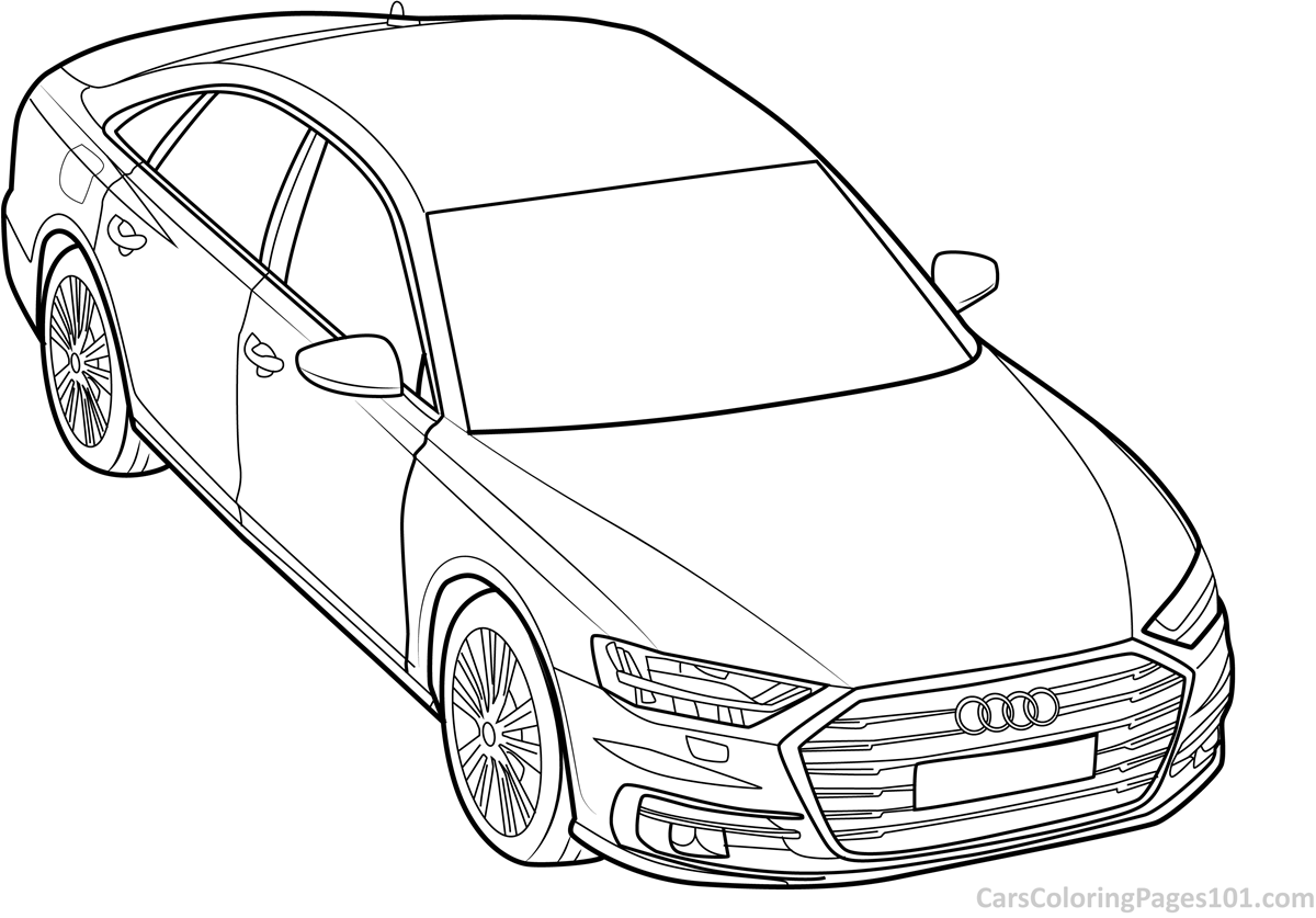 audi coloring pages audi a8 2018 front view coloring page free 2018 audi audi pages coloring