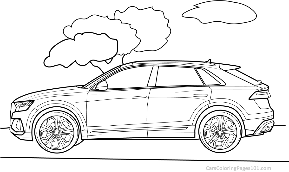 audi coloring pages audi q8 2019 side view coloring page free 2019 audi pages audi coloring
