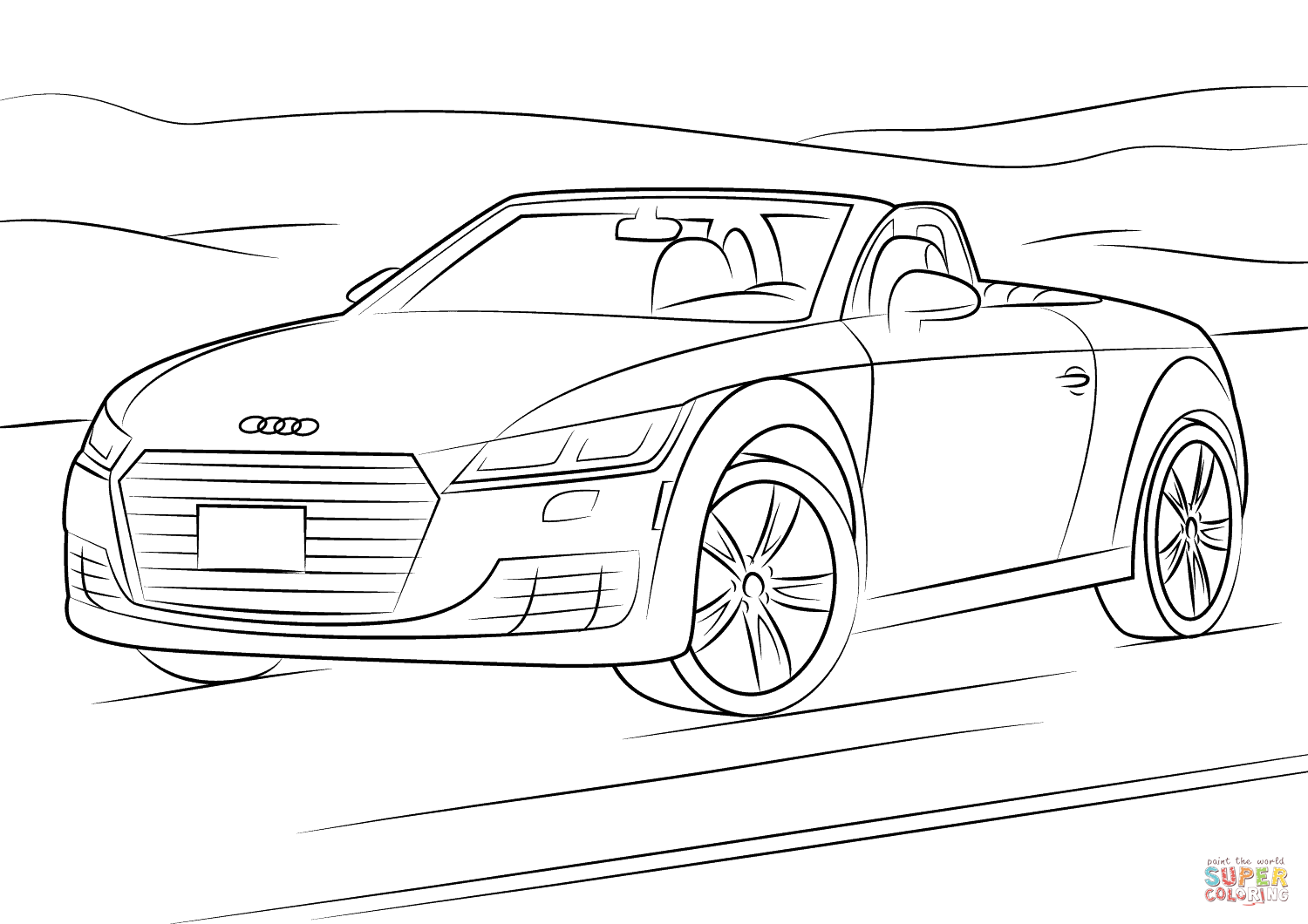 audi coloring pages audi tt coloring page free printable coloring pages audi pages coloring