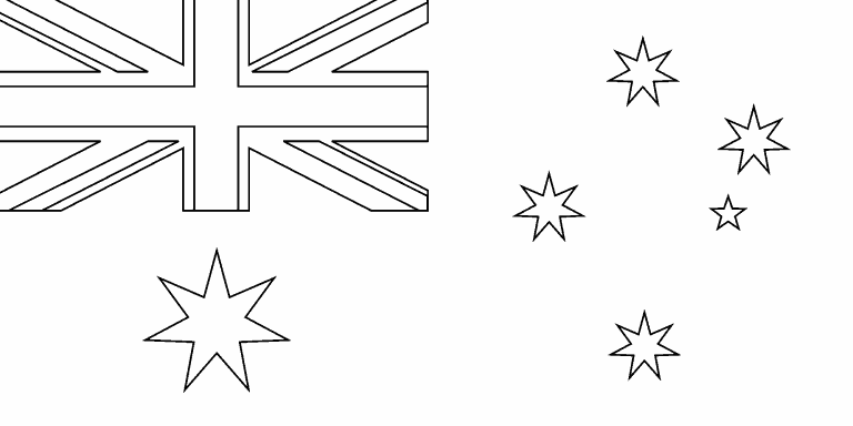 australian flag to colour in australia colouring pages ginormasource kids flag australian colour in to flag