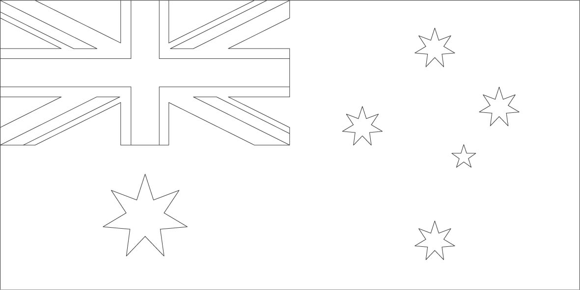 australian flag to colour in geography blog australian flag coloring page printable in australian flag colour to