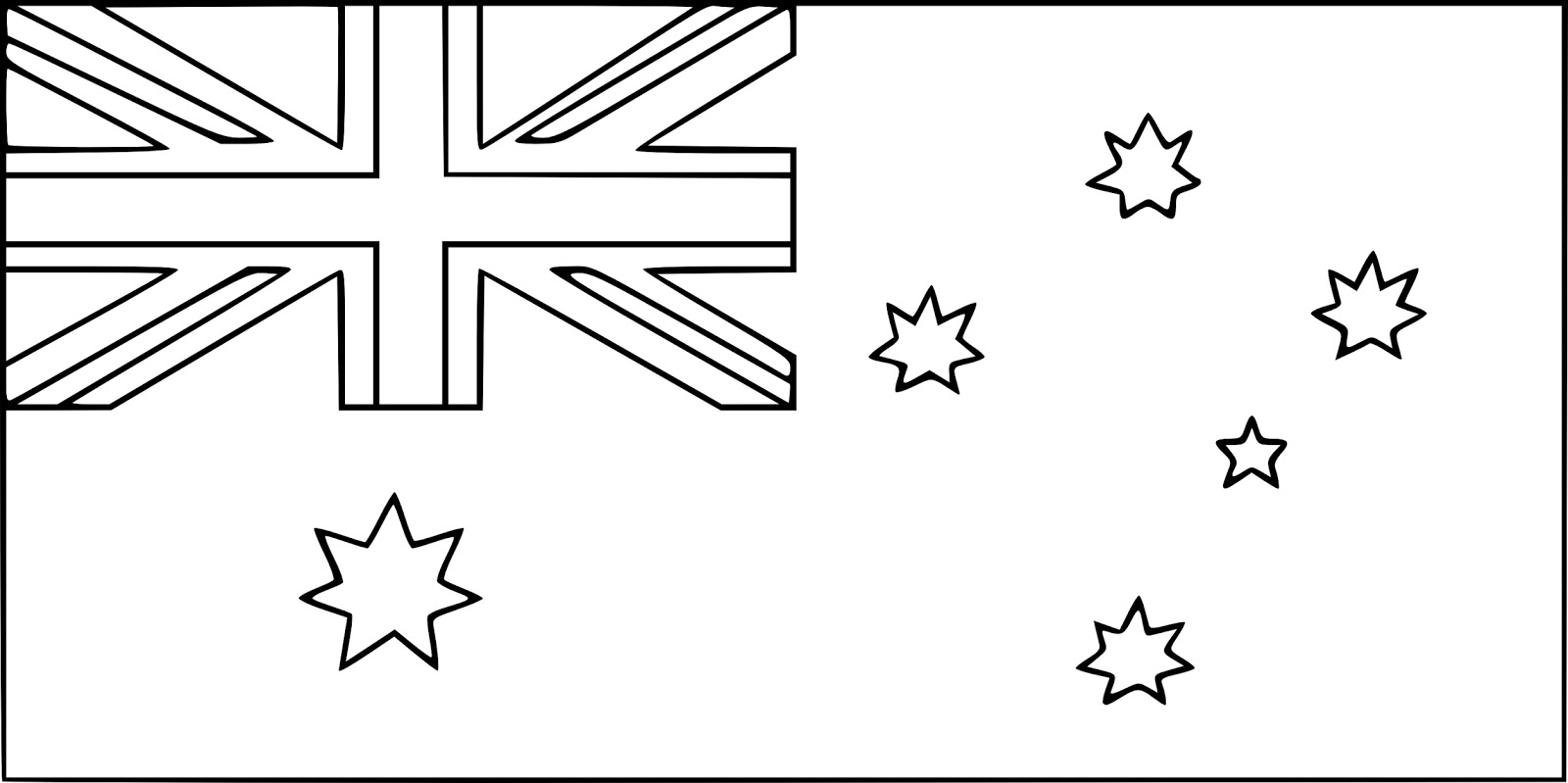 australian flag to colour in printable australian flag coloring worksheet flag colour australian to flag in