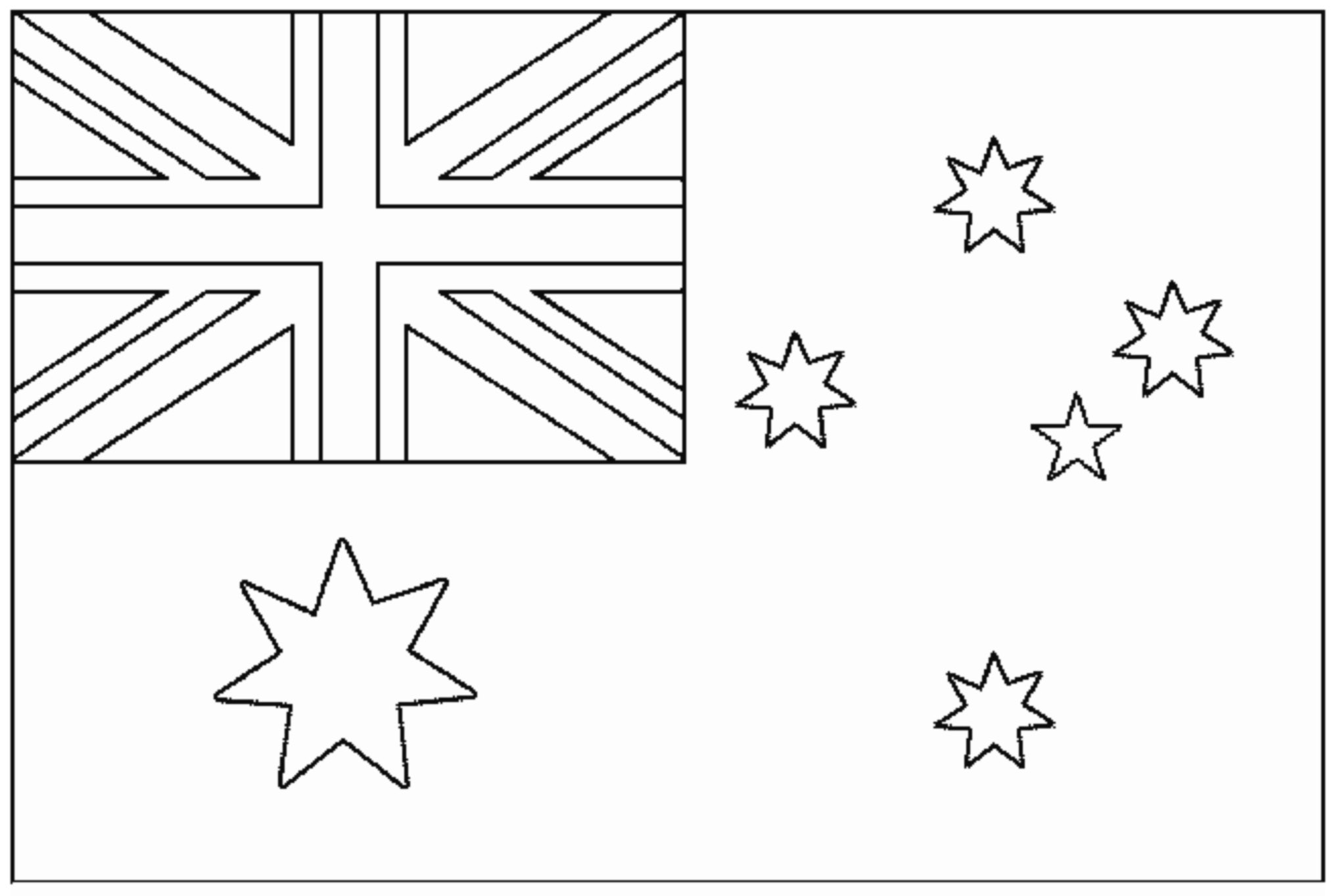 australian flag to colour in the geography blog australian flag coloring page australian colour flag to in