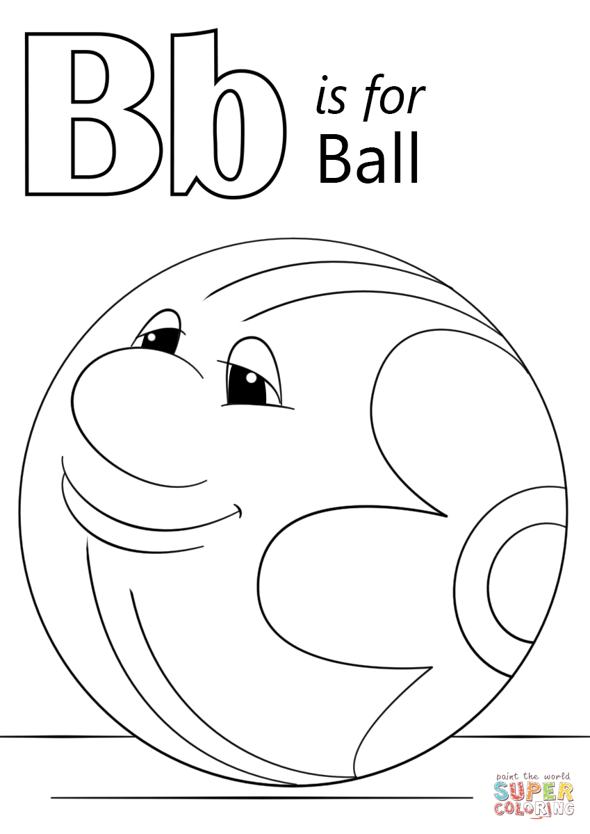 b is for ball coloring page b for ball coloring page with handwriting practice is page coloring b ball for