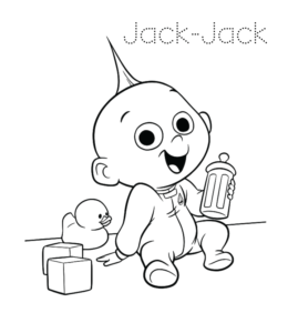 baby jack jack coloring sheet baby jack jack incredibles coloring pages the parr family jack baby jack sheet coloring