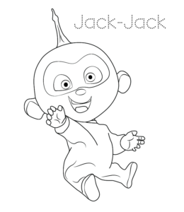 baby jack jack coloring sheet the incredibles coloring pages disneyclipscom sheet jack jack baby coloring
