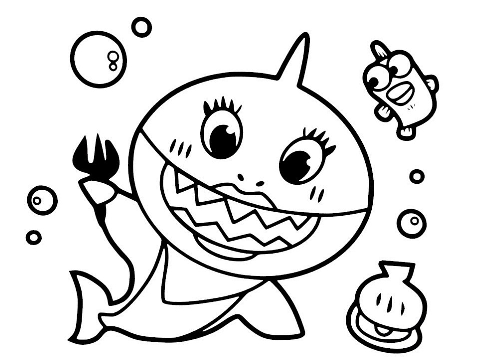 baby shark coloring images baby shark coloring page childrencoloringus baby images shark coloring