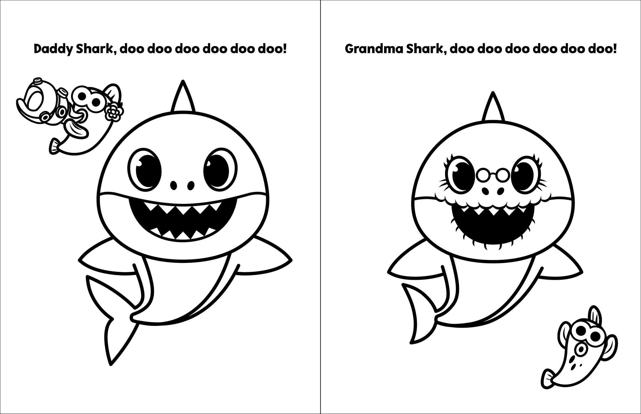 baby shark coloring images baby shark coloring pages at getcoloringscom free coloring shark baby images